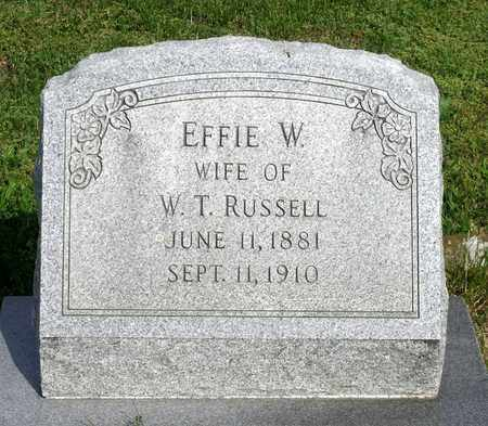 RUSSELL, EFFIE W. - Accomack County, Virginia   EFFIE W. RUSSELL - Virginia Gravestone Photos