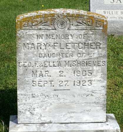 SHRIEVES, MARY FLETCHER - Accomack County, Virginia | MARY FLETCHER SHRIEVES - Virginia Gravestone Photos
