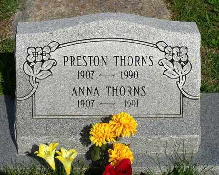 THORNS, PRESTON - Accomack County, Virginia | PRESTON THORNS - Virginia Gravestone Photos