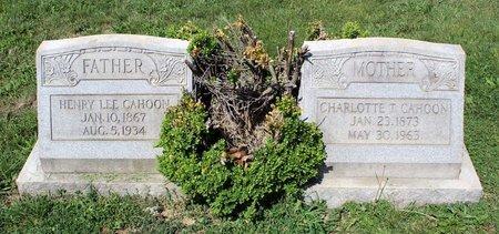 CAHOON, CHARLOTTE T. - Alleghany County, Virginia | CHARLOTTE T. CAHOON - Virginia Gravestone Photos