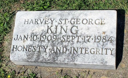 KING, HARVEY ST. GEORGE - Alleghany County, Virginia   HARVEY ST. GEORGE KING - Virginia Gravestone Photos
