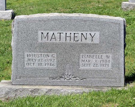 MATHENY, ISABELLE W. - Alleghany County, Virginia | ISABELLE W. MATHENY - Virginia Gravestone Photos
