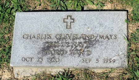MAYS, CHARLES CLEVELAND - Alleghany County, Virginia   CHARLES CLEVELAND MAYS - Virginia Gravestone Photos