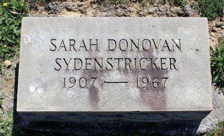 DONOVAN SYDENSTRICKER, SARAH - Alleghany County, Virginia | SARAH DONOVAN SYDENSTRICKER - Virginia Gravestone Photos