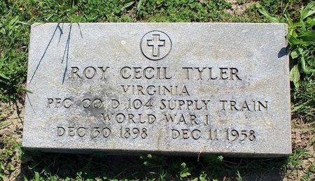 TYLER, ROY CECIL - Alleghany County, Virginia | ROY CECIL TYLER - Virginia Gravestone Photos