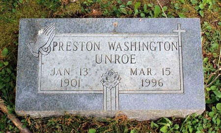 UNROE, PRESTON WASHINGTON - Alleghany County, Virginia | PRESTON WASHINGTON UNROE - Virginia Gravestone Photos
