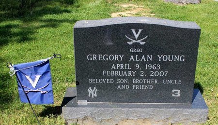 YOUNG, GREGORY ALAN - Alleghany County, Virginia | GREGORY ALAN YOUNG - Virginia Gravestone Photos