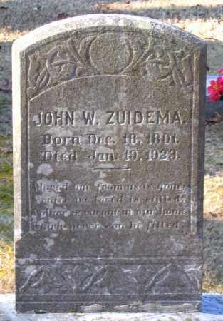ZUIDEMA, JOHN W. - Amelia County, Virginia | JOHN W. ZUIDEMA - Virginia Gravestone Photos