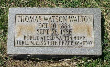 WALTON, THOMAS WATSON - Appomattox County, Virginia | THOMAS WATSON WALTON - Virginia Gravestone Photos