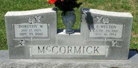 MCCORMICK, E. WELTON - Appomattox County, Virginia   E. WELTON MCCORMICK - Virginia Gravestone Photos