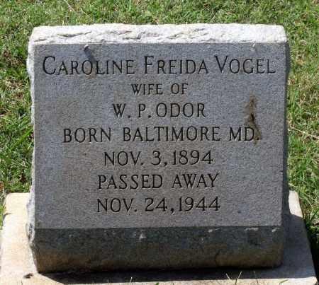 ODOR, CAROLINE FREIDA - Appomattox County, Virginia | CAROLINE FREIDA ODOR - Virginia Gravestone Photos