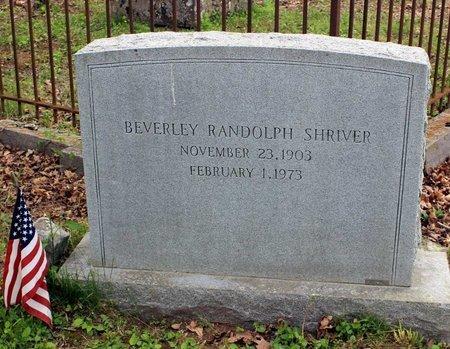 SHRIVER, BEVERLEY RANDOLPH - Bath County, Virginia   BEVERLEY RANDOLPH SHRIVER - Virginia Gravestone Photos