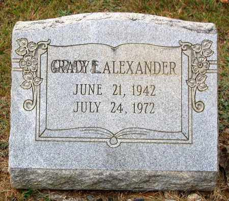 ALEXANDER, GRADY E. - Bedford County, Virginia | GRADY E. ALEXANDER - Virginia Gravestone Photos