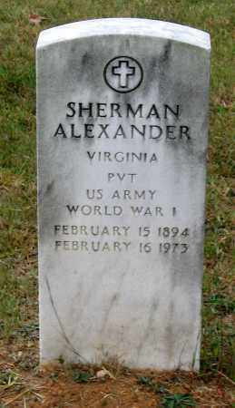 ALEXANDER, SHERMAN - Bedford County, Virginia | SHERMAN ALEXANDER - Virginia Gravestone Photos