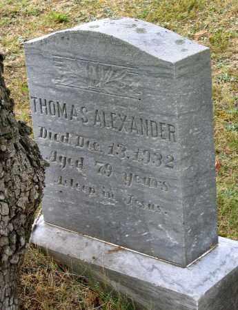ALEXANDER, THOMAS - Bedford County, Virginia | THOMAS ALEXANDER - Virginia Gravestone Photos