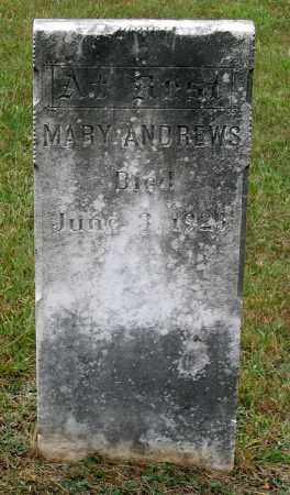 ANDREWS, MARY - Bedford County, Virginia | MARY ANDREWS - Virginia Gravestone Photos