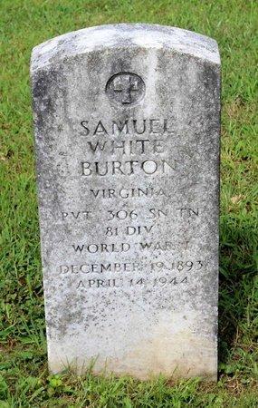 BURTON, SAMUEL WHITE - Bland County, Virginia | SAMUEL WHITE BURTON - Virginia Gravestone Photos