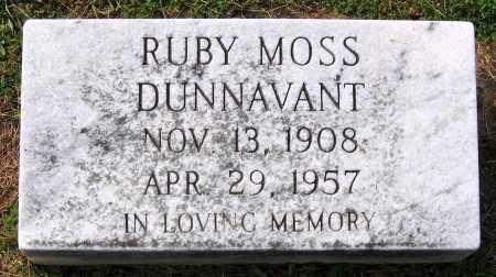 MOSS DUNNAVANT, RUBY - Buckingham County, Virginia   RUBY MOSS DUNNAVANT - Virginia Gravestone Photos
