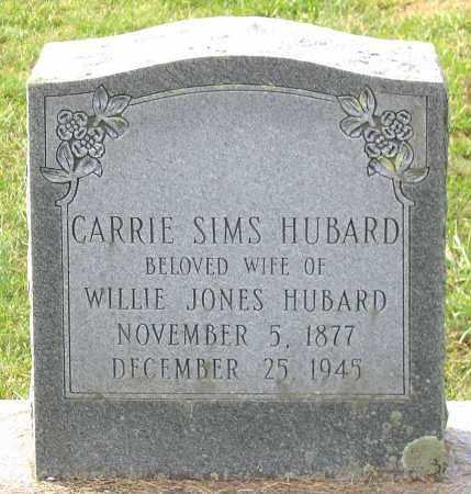 SIMS HUBARD, CARRIE - Buckingham County, Virginia | CARRIE SIMS HUBARD - Virginia Gravestone Photos