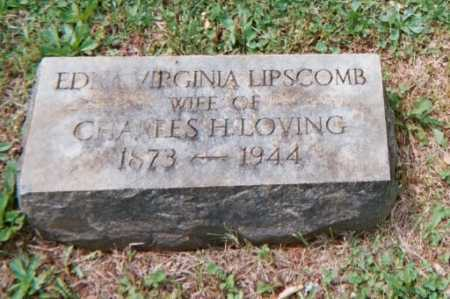 LIPSCOMB LIPSCOMB, EDNA - Campbell County, Virginia | EDNA LIPSCOMB LIPSCOMB - Virginia Gravestone Photos
