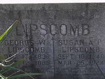 LIPSCOMB, SUSAN ANN PRUDANCE - Campbell County, Virginia | SUSAN ANN PRUDANCE LIPSCOMB - Virginia Gravestone Photos