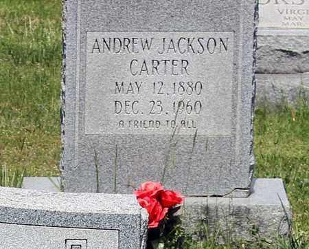 CARTER, ANDREW JACKSON - Caroline County, Virginia | ANDREW JACKSON CARTER - Virginia Gravestone Photos