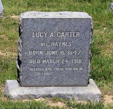 HAYNES CARTER, LUCY A. - Caroline County, Virginia | LUCY A. HAYNES CARTER - Virginia Gravestone Photos