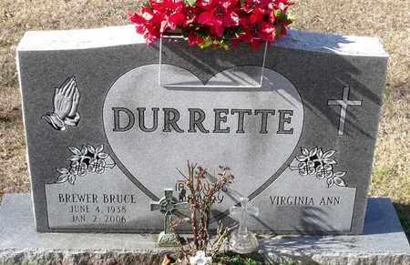 DURRETTE, BREWER BRUCE - Caroline County, Virginia   BREWER BRUCE DURRETTE - Virginia Gravestone Photos