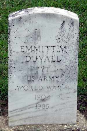 DUVALL, EMMITT M. - Caroline County, Virginia | EMMITT M. DUVALL - Virginia Gravestone Photos