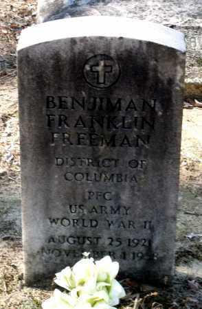 FREEMAN, BENJAMIN FRANKLIN - Caroline County, Virginia | BENJAMIN FRANKLIN FREEMAN - Virginia Gravestone Photos