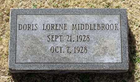 MIDDLEBROOK, DORIS LORENE - Caroline County, Virginia   DORIS LORENE MIDDLEBROOK - Virginia Gravestone Photos