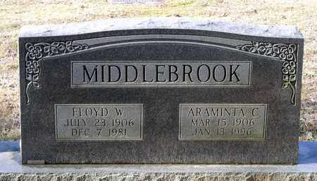 MIDDLEBROOK, ARAMINTA C. - Caroline County, Virginia | ARAMINTA C. MIDDLEBROOK - Virginia Gravestone Photos