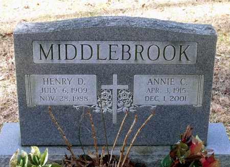 MIDDLEBROOK, HENRY D. - Caroline County, Virginia | HENRY D. MIDDLEBROOK - Virginia Gravestone Photos