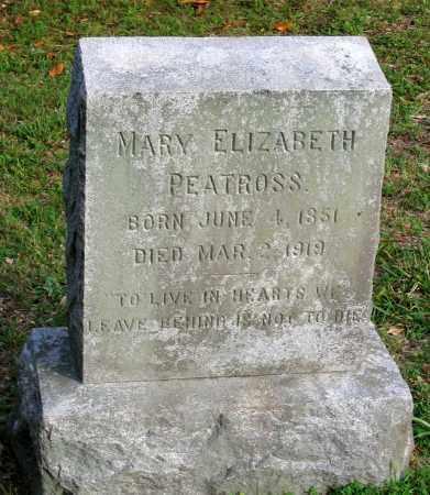 PEATROSS, MARY ELIZABETH - Caroline County, Virginia | MARY ELIZABETH PEATROSS - Virginia Gravestone Photos