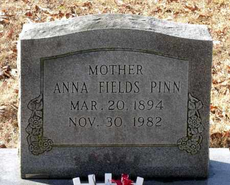 FIELDS PINN, ANNA - Caroline County, Virginia | ANNA FIELDS PINN - Virginia Gravestone Photos