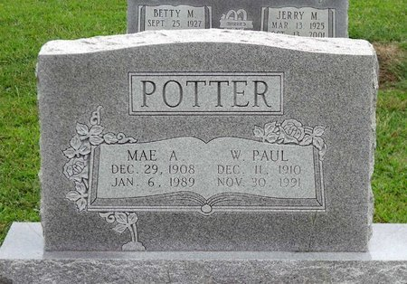 POTTER, WILLIAM PAUL - Caroline County, Virginia | WILLIAM PAUL POTTER - Virginia Gravestone Photos