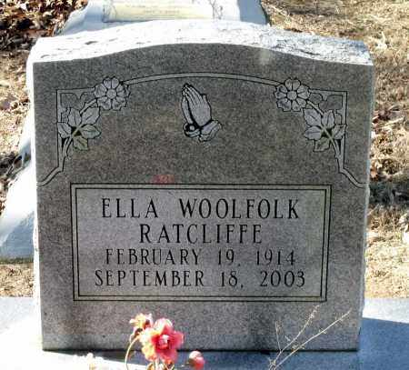 WOOLFOLK RATCLIFFE, ELLA - Caroline County, Virginia | ELLA WOOLFOLK RATCLIFFE - Virginia Gravestone Photos