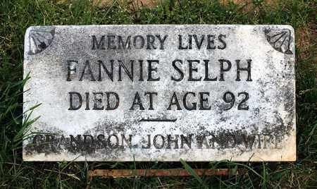 SELPH, FANNIE - Caroline County, Virginia | FANNIE SELPH - Virginia Gravestone Photos
