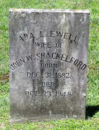 SHACKELFORD, ADA L. - Caroline County, Virginia   ADA L. SHACKELFORD - Virginia Gravestone Photos