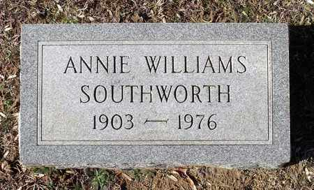 WILLIAMS SOUTHWORTH, ANNIE - Caroline County, Virginia | ANNIE WILLIAMS SOUTHWORTH - Virginia Gravestone Photos