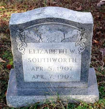 SOUTHWORTH, ELIZABETH W. - Caroline County, Virginia | ELIZABETH W. SOUTHWORTH - Virginia Gravestone Photos