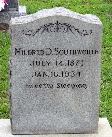 SOUTHWORTH, MILDRED D. - Caroline County, Virginia   MILDRED D. SOUTHWORTH - Virginia Gravestone Photos