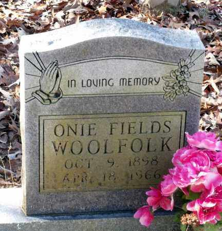 WOOLFOLK, ONIE - Caroline County, Virginia | ONIE WOOLFOLK - Virginia Gravestone Photos