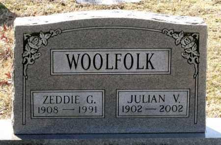 WOOLFOLK, ZEDDIE G. - Caroline County, Virginia | ZEDDIE G. WOOLFOLK - Virginia Gravestone Photos