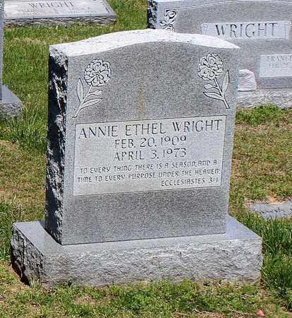 WRIGHT, ANNIE ETHEL - Caroline County, Virginia | ANNIE ETHEL WRIGHT - Virginia Gravestone Photos