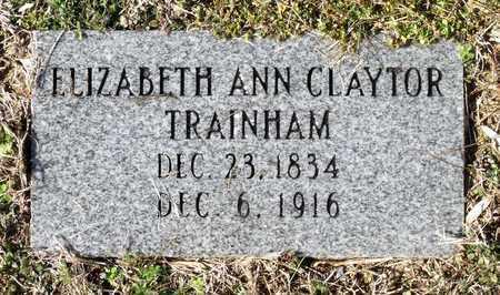 CLAYTOR TRAINHAM, ELIZABETH ANN - Caroline County, Virginia | ELIZABETH ANN CLAYTOR TRAINHAM - Virginia Gravestone Photos