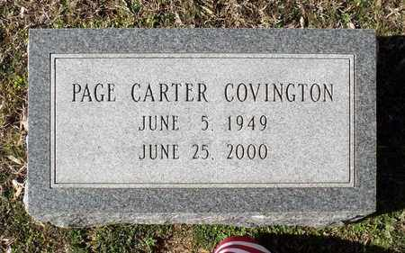 COVINGTON, PAGE CARTER - Caroline County, Virginia | PAGE CARTER COVINGTON - Virginia Gravestone Photos