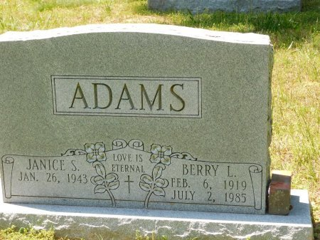 ADAMS, BERRY L. - Charles City County, Virginia   BERRY L. ADAMS - Virginia Gravestone Photos