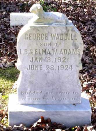 ADAMS, GEORGE WADDILL - Charles City County, Virginia | GEORGE WADDILL ADAMS - Virginia Gravestone Photos