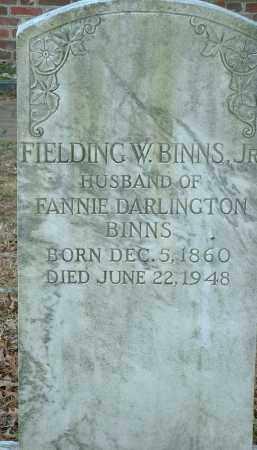 BINNS, JR., FIELDING W. - Charles City County, Virginia | FIELDING W. BINNS, JR. - Virginia Gravestone Photos